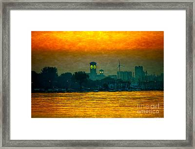 Sunset On Milwaukee's South Side  Framed Print by Mary Machare