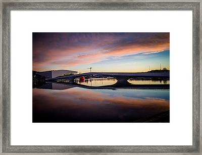 Sunset On The Bridge Framed Print by Mirra Photography