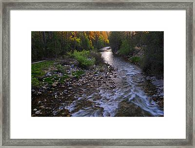 Sunset On The Merced Framed Print by Lynn Bauer