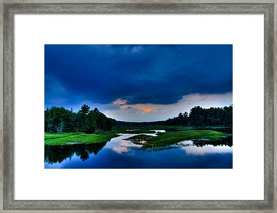 Sunset On The North Branch Of The Moose Framed Print by David Patterson