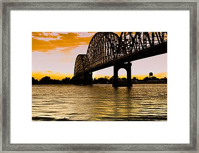 Sunset On The River Framed Print by Ethan Allen