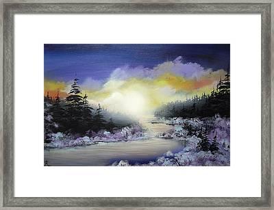Sunset On The River Framed Print by Irina Rumyantseva