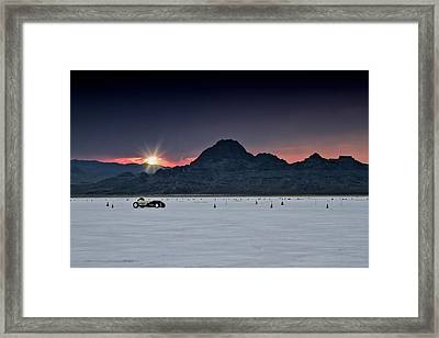 Sunset On The Salt Bonneville 2012 Framed Print by Holly Martin