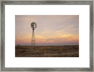 Sunset On The Texas Plains Framed Print by Melany Sarafis