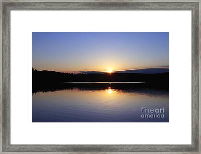 Sunset On Walden Pond Framed Print by John Greim