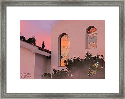 Sunset On Windows Framed Print by Augusta Stylianou