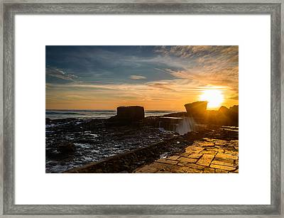 Sunset Over A Rough Sea IIi Framed Print by Marco Oliveira