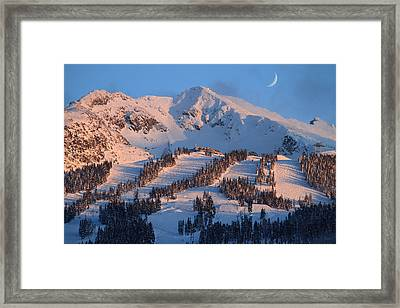 Sunset Over Blackcomb Mountain Framed Print by Pierre Leclerc Photography