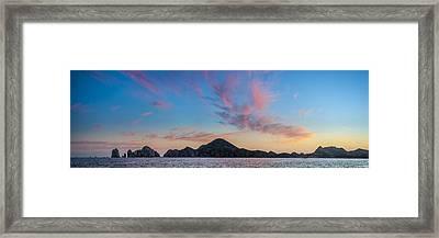 Sunset Over Cabo Framed Print by Sebastian Musial