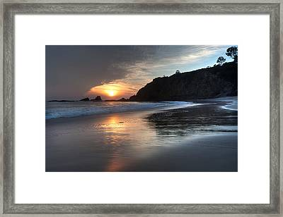 Sunset Over Crescent Bay Framed Print by Cliff Wassmann