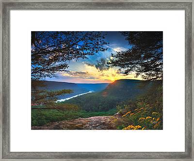 Sunset Over Edwards Point Framed Print by Steven Llorca