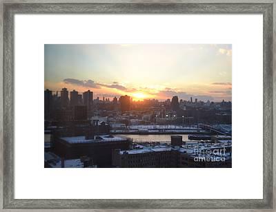 Sunset Over Harlem Framed Print by Robert Daniels