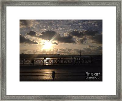 Sunset Over Istanbul Turkey Framed Print by John Telfer