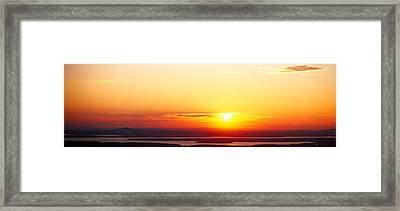 Sunset Over Mountain Range, Cadillac Framed Print by Panoramic Images