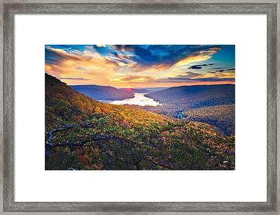Sunset Over Mullins Cove Framed Print by Steven Llorca