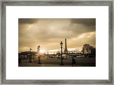 Sunset Over Paris Framed Print by Steven  Taylor