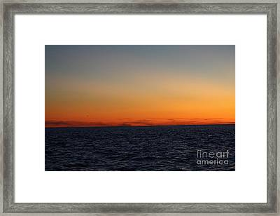 Sunset Over Point Lookout Framed Print by John Telfer