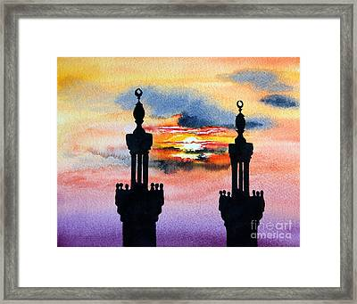 Sunset Over Port Said Framed Print by Maria Barry