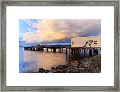 Sunset Over Puget Sound Framed Print by Karma Boyer