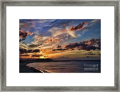 Sunset Over Rethymno Crete Framed Print by David Smith