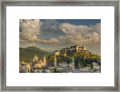 Sunset Over Salzburg Framed Print by Chris Fletcher