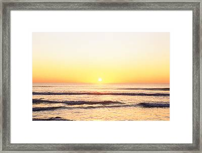 Sunset Over Sea Framed Print by Panoramic Images