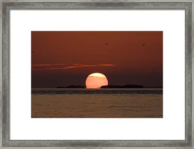 Sunset Over The Keys Framed Print by Adam Romanowicz