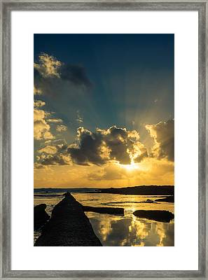 Sunset Over The Ocean Iv Framed Print by Marco Oliveira