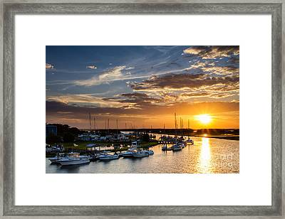 Sunset Over Tiger Point Marina Amelia Island Florida Framed Print by Dawna  Moore Photography