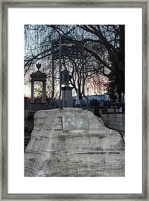 Sunset Over Tombstone Framed Print by Robert Hebert