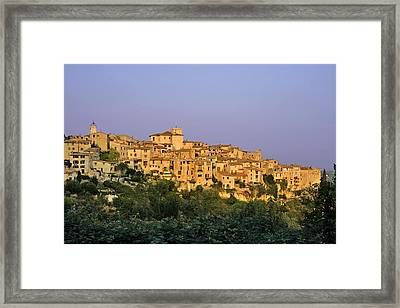 Sunset Over Vieux Nice - Old Town - France Framed Print by Christine Till
