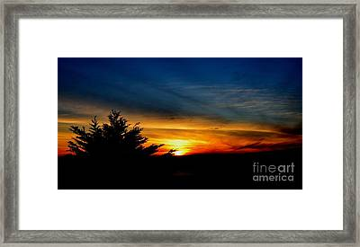 Sunset Overlooking Pacifica Ca  Framed Print by Jim Fitzpatrick