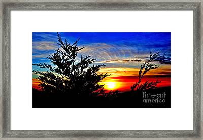 Sunset Overlooking Pacifica Ca Vi Framed Print by Jim Fitzpatrick