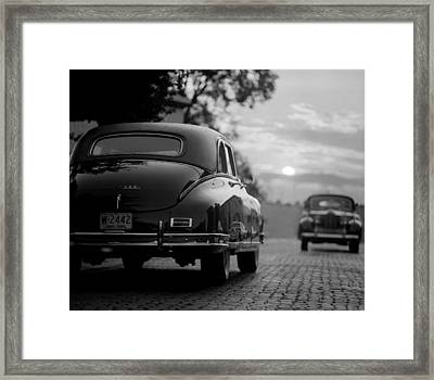 Sunset Packards Framed Print by Jon Neidert