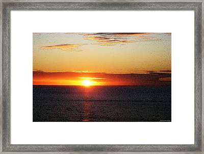 Sunset Painting - Orange Glow Framed Print by Sharon Cummings
