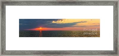 Sunset Panorama Over Atlantic Ocean Framed Print by Elena Elisseeva