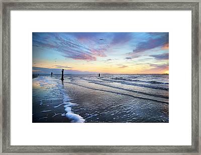 Sunset Paradise Jekyll Island  Framed Print by Betsy Knapp