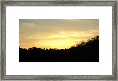 Sunset Framed Print by Paula Tohline Calhoun