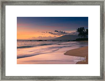 Sunset Poolenalena Beach - Maui Framed Print by Henk Meijer Photography