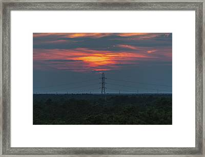 Sunset Power Over Pine Barrens Nj Framed Print by Terry DeLuco