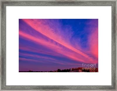 Sunset Rays Framed Print by Adrian Evans