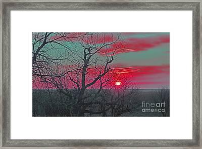 Sunset Red Framed Print by Renie Rutten