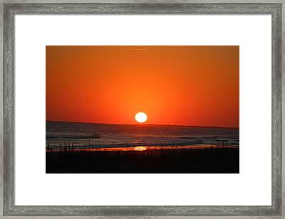 Sunset Red Framed Print by Rosanne Jordan