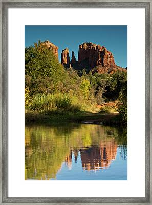 Sunset, Reflections, Oak Crek Framed Print by Michel Hersen