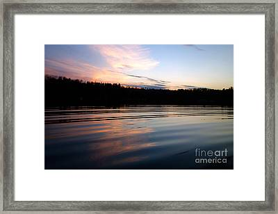 Sunset Ripples Framed Print by Jacqueline Athmann