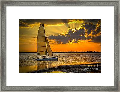 Sunset Sail Framed Print by Marvin Spates