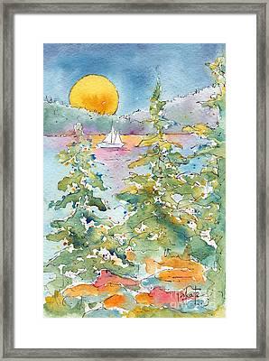 Sunset Sail On Waskesiu Lake Framed Print by Pat Katz