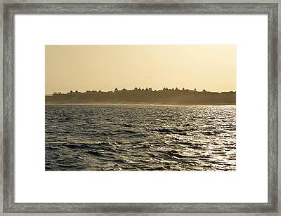 Sunset Sailing In Cabo Framed Print by Christine Till