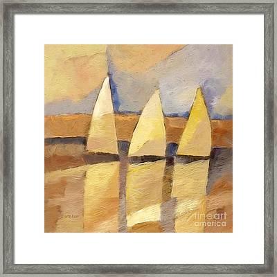 Sunset Sailing Framed Print by Lutz Baar