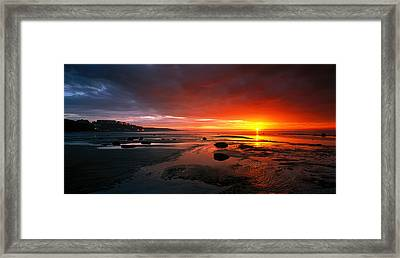 Sunset Saltburn N England Framed Print by Panoramic Images